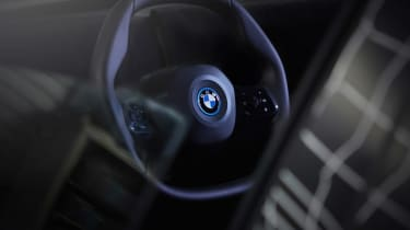 BMW iNEXT steering wheel teaser