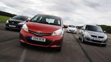 Ford Fiesta vs Toyota Yaris vs Mazda2 vs Suzuki Swift