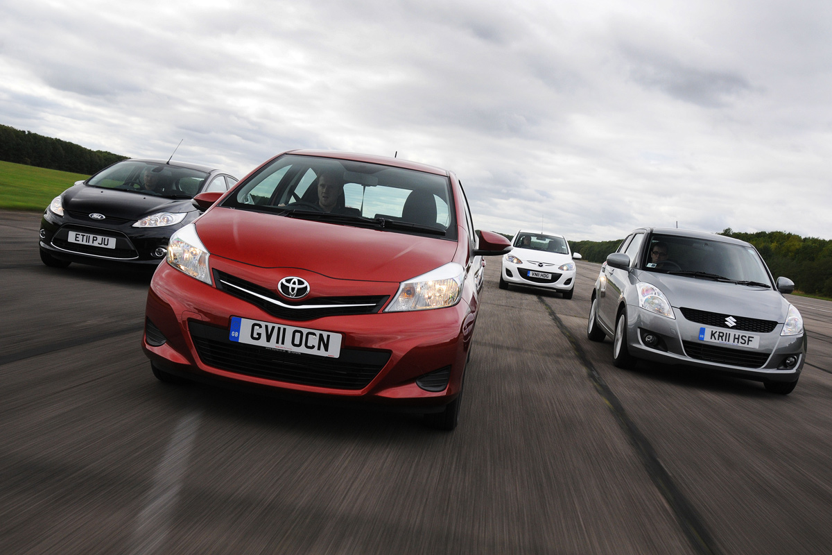 Toyota Yaris Vs Rivals Group Tests Auto Express