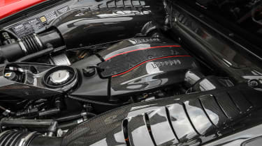 Ferrari 488 Pista - engine close-up
