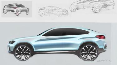 BMW Concept X4 design sketches
