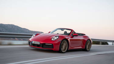 New Porsche 911 Cabriolet 2019 roof down