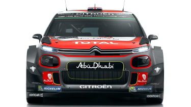Citroen C3 WRC 2017 white background nose
