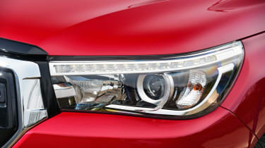 Toyota Hilux Invincible X headlights