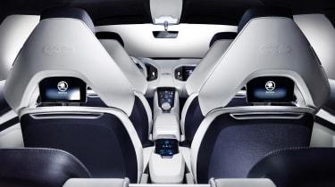 Skoda VisionS concept studio - rear seats