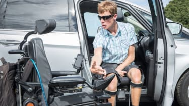 Disability driving feature - driver sat