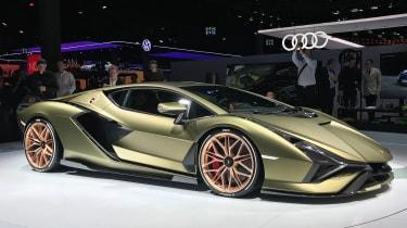Lamborghini Sian - front 3/4 static Frankfurt