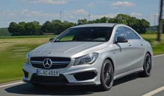 Mercedes CLA 45 AMG front tracking