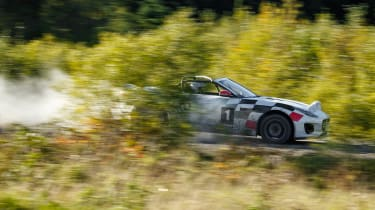 Jaguar F-Type rally car - side