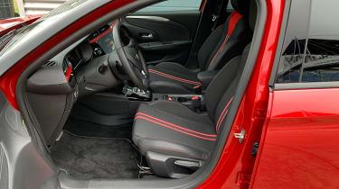 Vauxhall Corsa - front seats