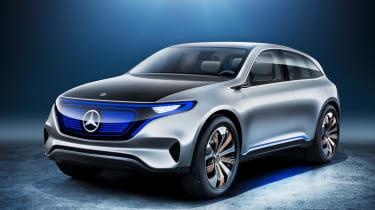 Mercedes EQ electric SUV - front quarter
