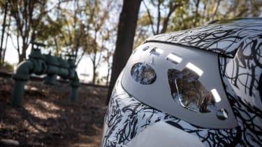 Mercedes E-Class development car headlight