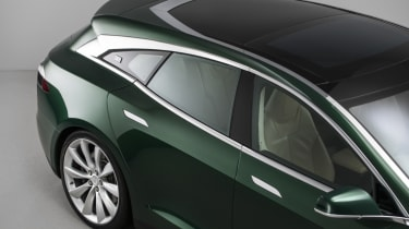 Tesla Model S Shooting Brake estate glass roof