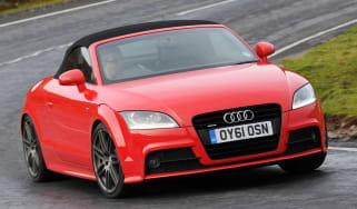 Audi TT Roadster front cornering