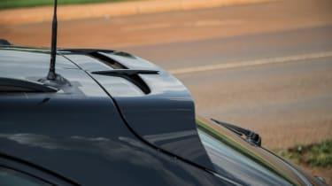 Porsche Macan 2018 prototype rear spoiler