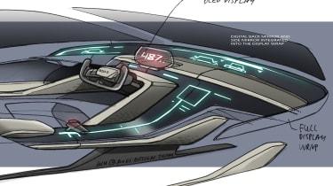 Audi RSQ e-tron Concept - interior passenger side
