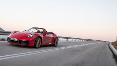 New Porsche 911 Cabriolet 2019 road