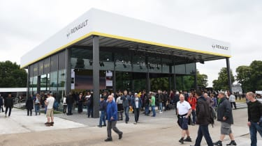 The Renault stand is one of the largest at this year's Festival of Speed, and it is marking its 40<sup>th</sup> anniversary of its involvement in Formula 1.&nbsp;