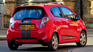 Chevrolet spark red rear
