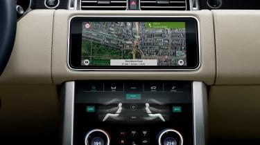 Range Rover review - centre console