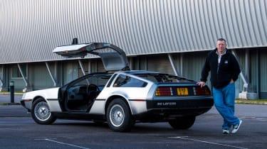 DMC DeLorean - rear doors open