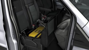 Ford Transit under seat storage