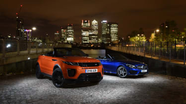 Range Rover Evoque Convertible vs Mercedes C-Class Cabriolet - header 2