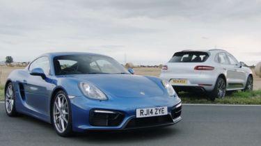 Porsche track battle