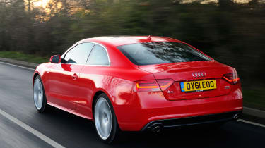 Audi A5 3.0 TDI Coupe rear tracking