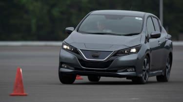 Nissan Leaf prototype - cornering