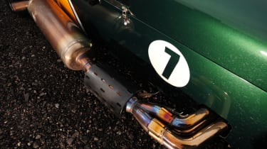 Caterham R600 exhaust detail
