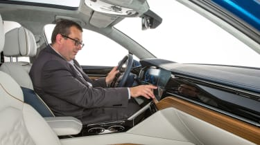 Volkswagen T-Prime concept - interior with John McIlroy