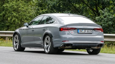 Audi RS5 Sportback spy shot rear quarter