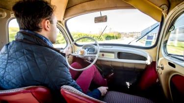 Renault 4cv interior
