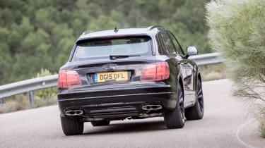 Bentley Bentayga prototype first drive - rear cornering