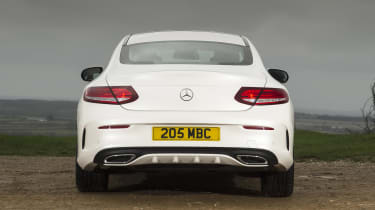 Mercedes C-Class Coupe - full rear static
