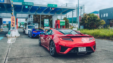 Honda NSX toll road