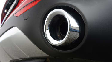 Alfa Romeo Stelvio - exhaust detail