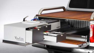 Mercedes X-Class campervan - kitchen