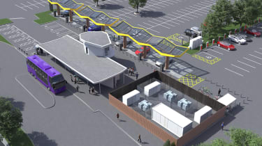 Oxford's Redbridge electric car charging hub 3