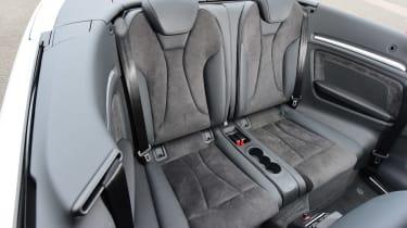 Audi A3 Convertible rear seats