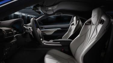 Lexus RC F V8 coupe interior