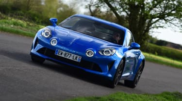 Alpine A110 - front cornering