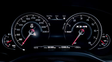 BMW X3 M Competition - dials