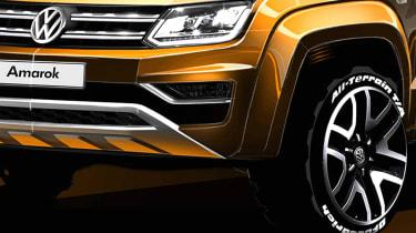 Volkswagen Amarok sketch - front detail