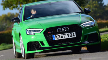 audi rs 3 saloon driving front