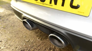 Porsche 911 Carrera 2015 exhaust detail