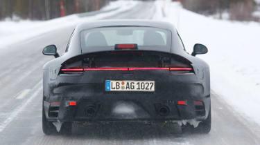 Porsche 911 spy shot - daytime full rear
