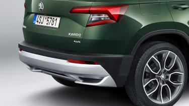 Skoda Karoq Scout rear quarter detail