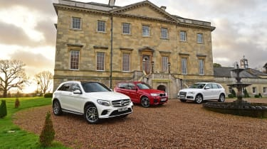Mercedes GLC vs BMW X3 vs Audi Q5 - header